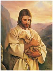 Christ and lamb