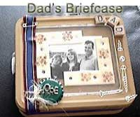 "Photograph of ""Dad's Briefcase"" - a scrapbook box."