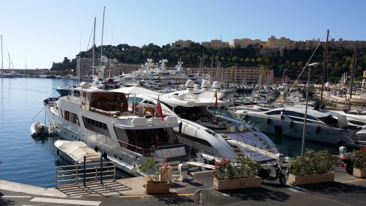 Boats in the marina at Monaco