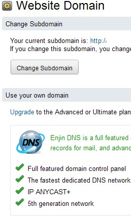 If you are using the free plan, you will be asked to upgrade before adding your own domain name.