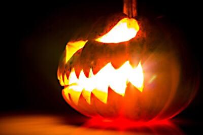 A symbolic jack o'lantern