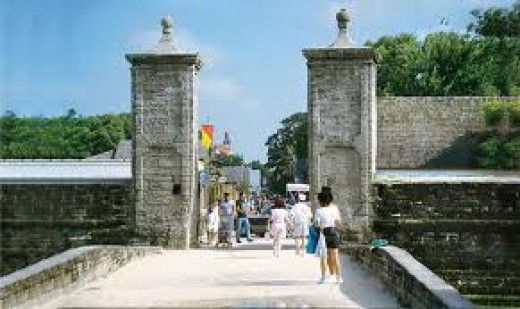 The Old City Gates In St Augustine Florida are home to a young girl ghost of about 14 who is seen often at night near the old city gates.