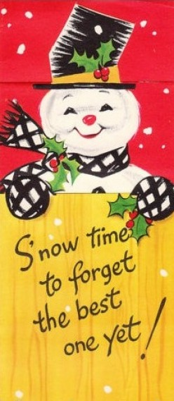 Free Cross Stitch Pattern Snowman Behind Fence