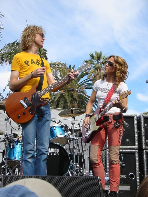 Sheryl Crow with Peter Stroud