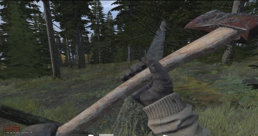 Chopping Down a tree will allow you to craft numerous wooden sticks