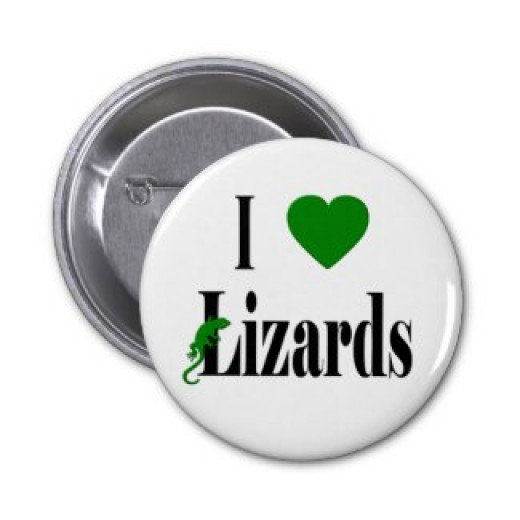 I Love Lizards Pin