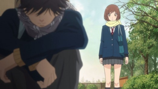 A physical depiction of the main conflict in Ao Haru Ride.