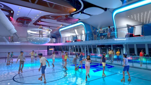 Roller Rink that transfers into Basketball Court and Bumper Car Rink