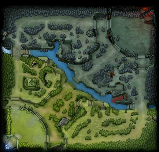 Dota 2 Map, Post 6.82 patch