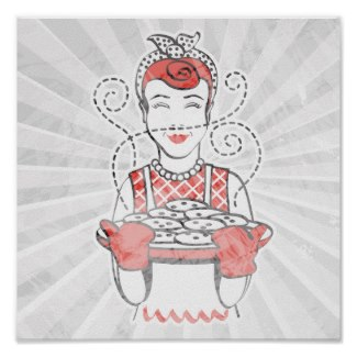 Baking cookies with Granny!  (Posters and other items available by clicking the source link)