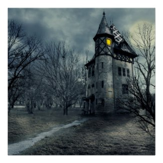 Haunted house posters and other items available by clicking the source link