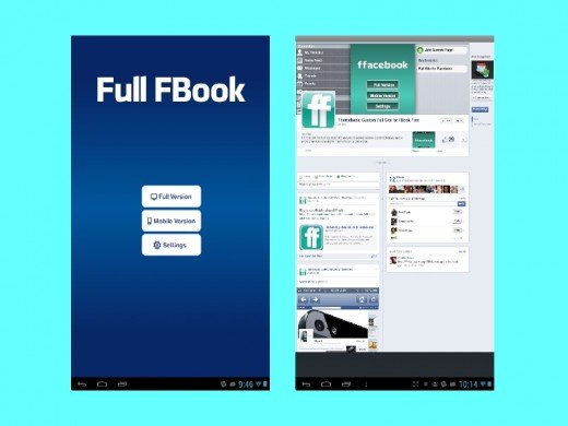Full Book for Facebook is for PC like Facebook experience on mobile.
