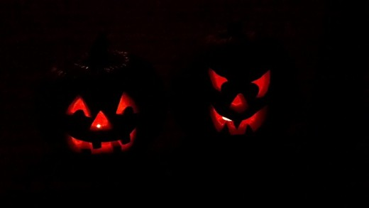 Jack o Lanterns and pumpkins
