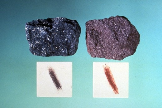 Iron in hematite makes it produce a red streak.