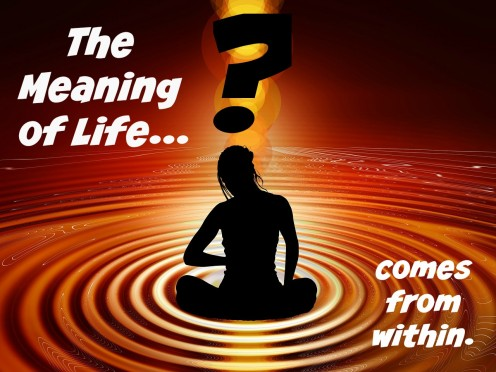 The meaning of life comes from within.