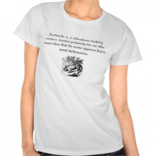 Aardvark Tee Shirts by McLean23