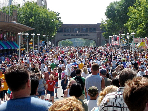 Hordes fill the walkways at our state fairs every year