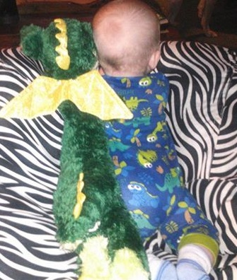 Grandbaby and her LongFellow Dragon
