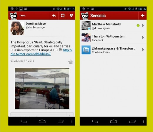 Seesmic: Facebook+Twitter client