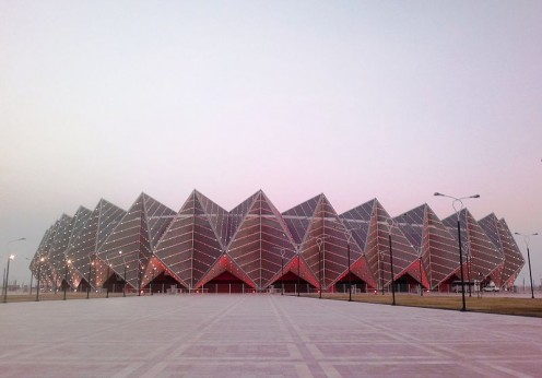 Baku Crystal Hall in Baku, Azerbaijan: Venue for Eurovision 2012