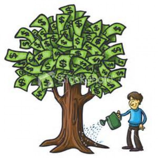 When I was five years old, I really believed my dad had a money tree.