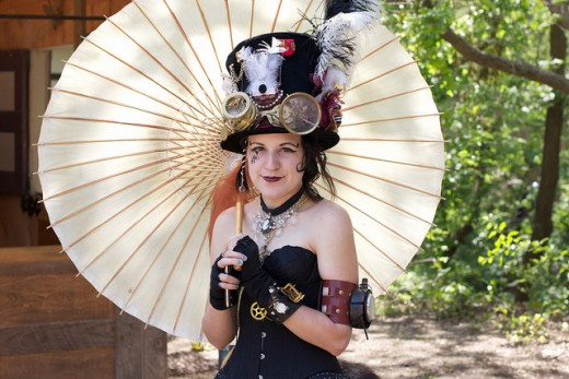 Steampunk Lady With Parasol