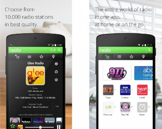 Ra.dio is a popular Radio app for Android
