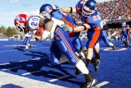 BSU Broncos on the Smurf Turf.  Image from Google Images