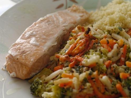 Oily fish dish