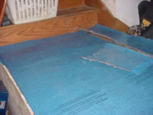 Blue Vapor barrier installed