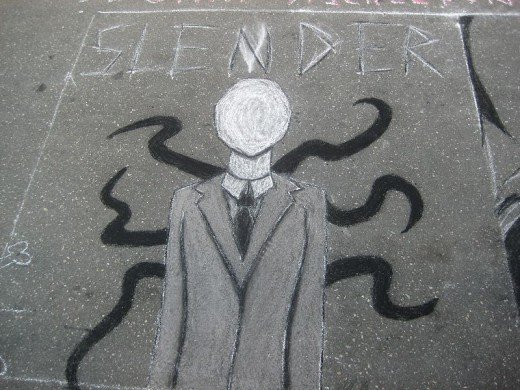 Slender Man graffitti art