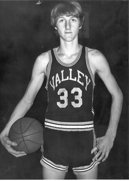 A Young Larry Bird playing for Springs Valley High School