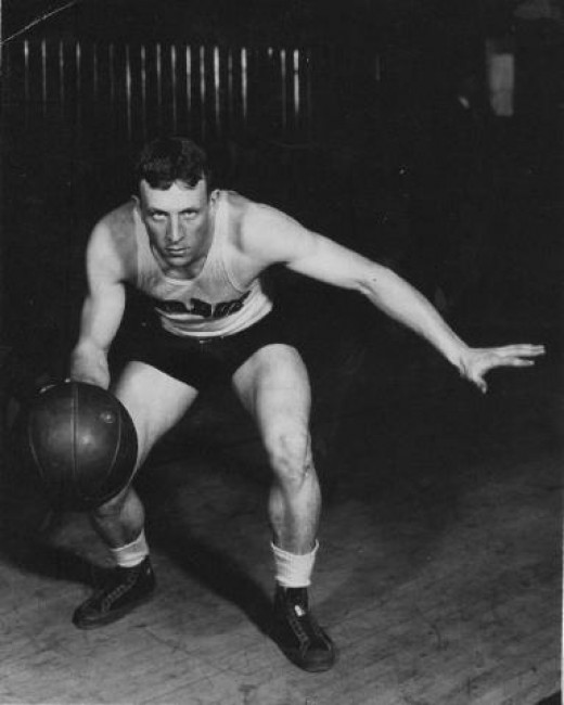 John Wooden was a three time All-American at Purdue