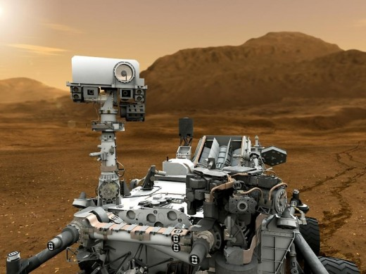 Artist concept features NASA's Mars Science Laboratory Curiosity rover.