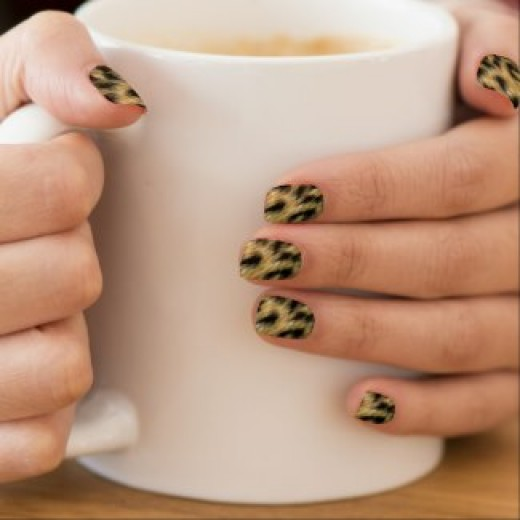 Beautiful nail art in cheetah print and other items available by clicking the source link.