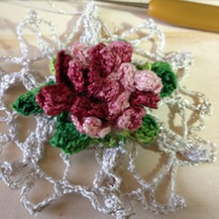 Backward Rose Snowflake Free Crochet Pattern