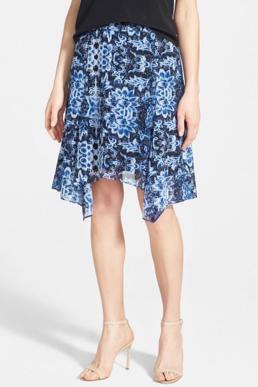 breezy chiffon skirt cut with a fluttery handkerchief hem