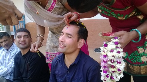 In Nepal Seven Colored Tikka Is Put On The Forehead
