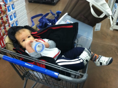 My secret shopping buddy - helping me blend in at Walmart.