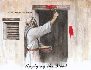 """""""Then they are to take some of the blood and put it on the sides and tops of the doorframes of the houses where they eat the lambs."""""""