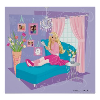 Barbie sitting on bed poster and other items available by clicking the source link.
