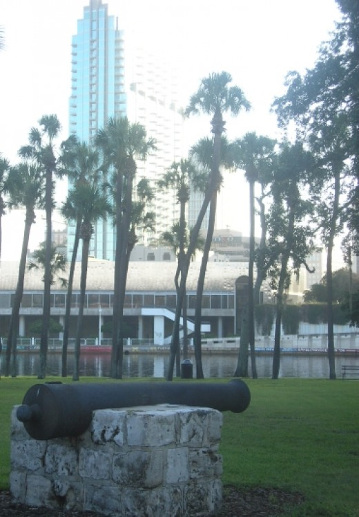 Ft. Brooke Cannon at Plant Park on the grounds of the University of Tampa campus.