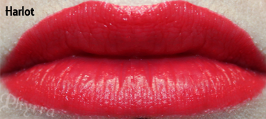 OCC Lip Tar: Harlot. A perfect, oh-so-slightly orangey red for daytime.