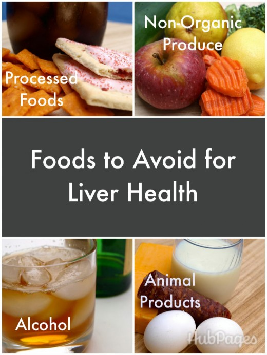Foods to avoid for liver health and detoxification.