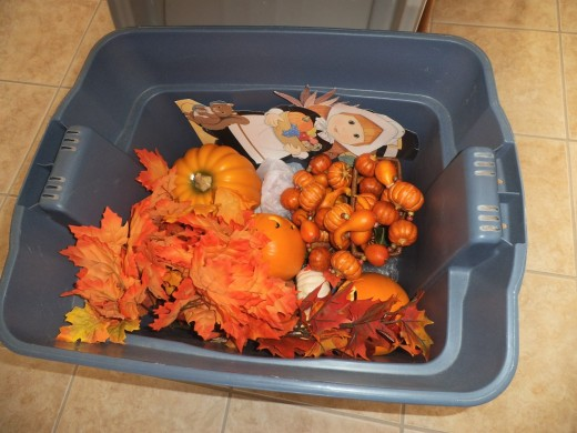 I get these out every fall and usually add a few more pieces each year. Now the tub is full to the brim, so I'd better not acquire anymore pieces.