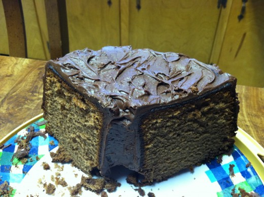 Mom's Chocolate Pound Cake with Chocolate Cream Cheese Frosting