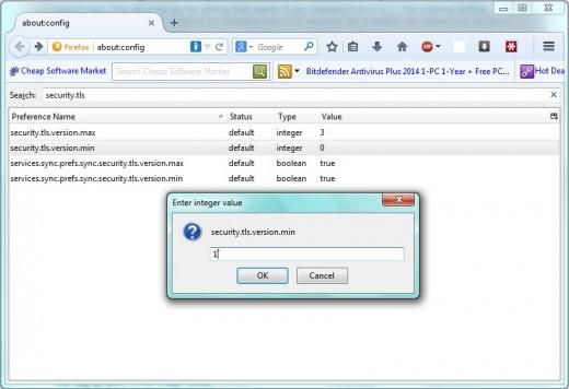 SSL 3.0 - Firefox
