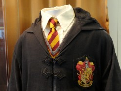 A close-up on Daniel Radcliffe's costume in the Harry Potter films.