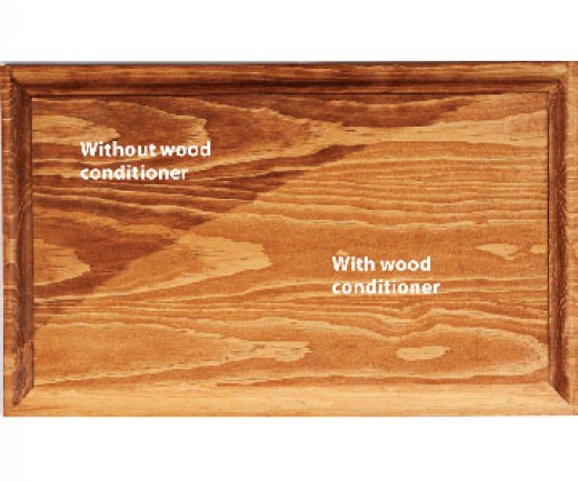 Along with sanding, sealers, and conditioners make a monumental difference in softwoods, but also improve the finsh of hardwoods as well.