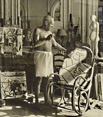 Picasso with his favorite chair